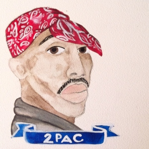 Talent Loves Company at Barbara Archer Gallery: 365 portraits by Lydia Walls - 2pac