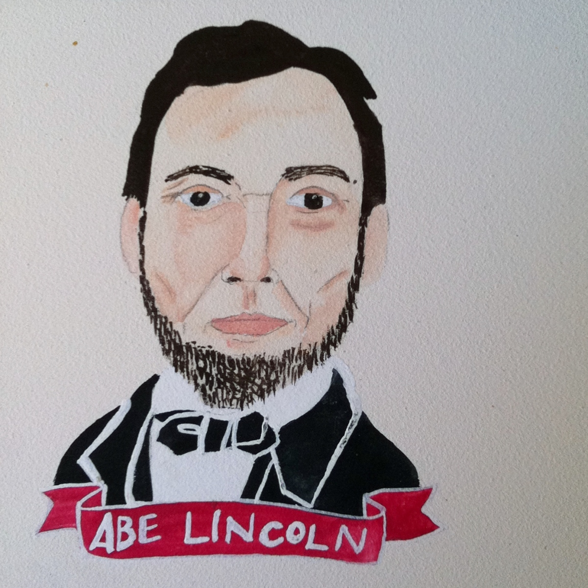 Talent Loves Company at Barbara Archer Gallery: 365 portraits by Lydia Walls - Abe Lincoln