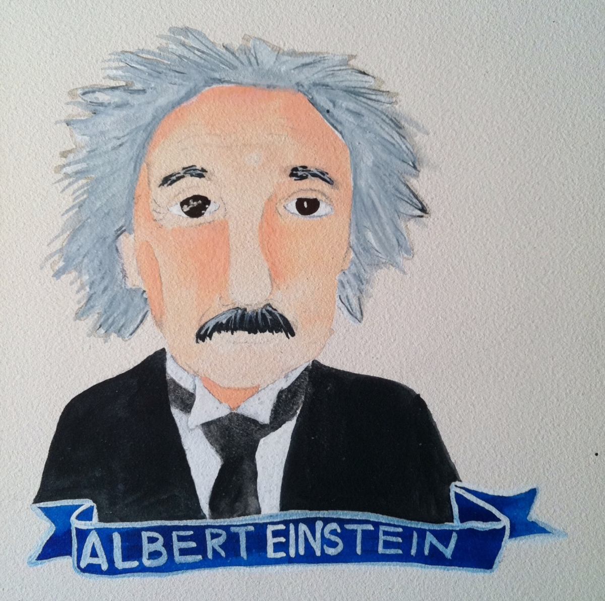Talent Loves Company at Barbara Archer Gallery: 365 portraits by Lydia Walls - Albert Einstein