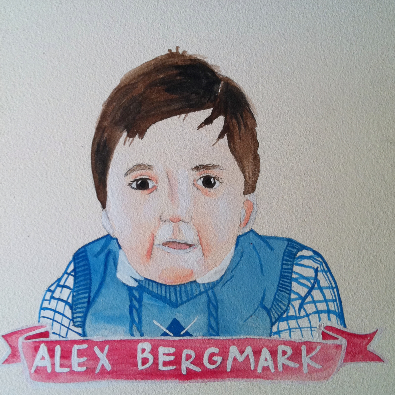 Talent Loves Company at Barbara Archer Gallery: 365 portraits by Lydia Walls - Alex Bergmark