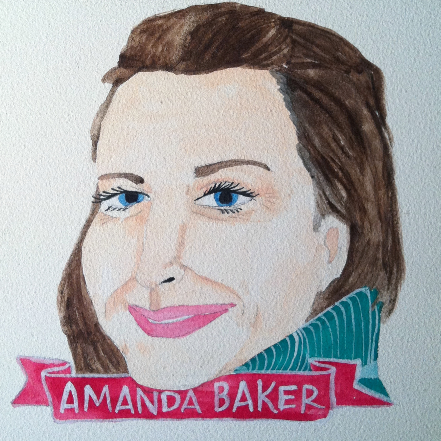 Talent Loves Company at Barbara Archer Gallery: 365 portraits by Lydia Walls - Amanda Baker