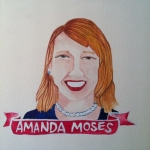 Talent Loves Company at Barbara Archer Gallery: 365 portraits by Lydia Walls - Amanda Moses