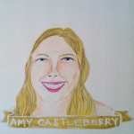 Talent Loves Company at Barbara Archer Gallery: 365 portraits by Lydia Walls - Amy Castleberry