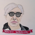 Talent Loves Company at Barbara Archer Gallery: 365 portraits by Lydia Walls - Andy Warhol