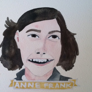 Talent Loves Company at Barbara Archer Gallery: 365 portraits by Lydia Walls - Anne Frank