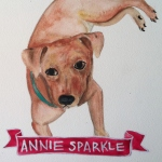 Talent Loves Company at Barbara Archer Gallery: 365 portraits by Lydia Walls - Annie Sparkle