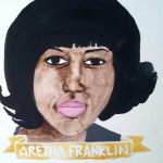Talent Loves Company at Barbara Archer Gallery: 365 portraits by Lydia Walls - Aretha Franklin