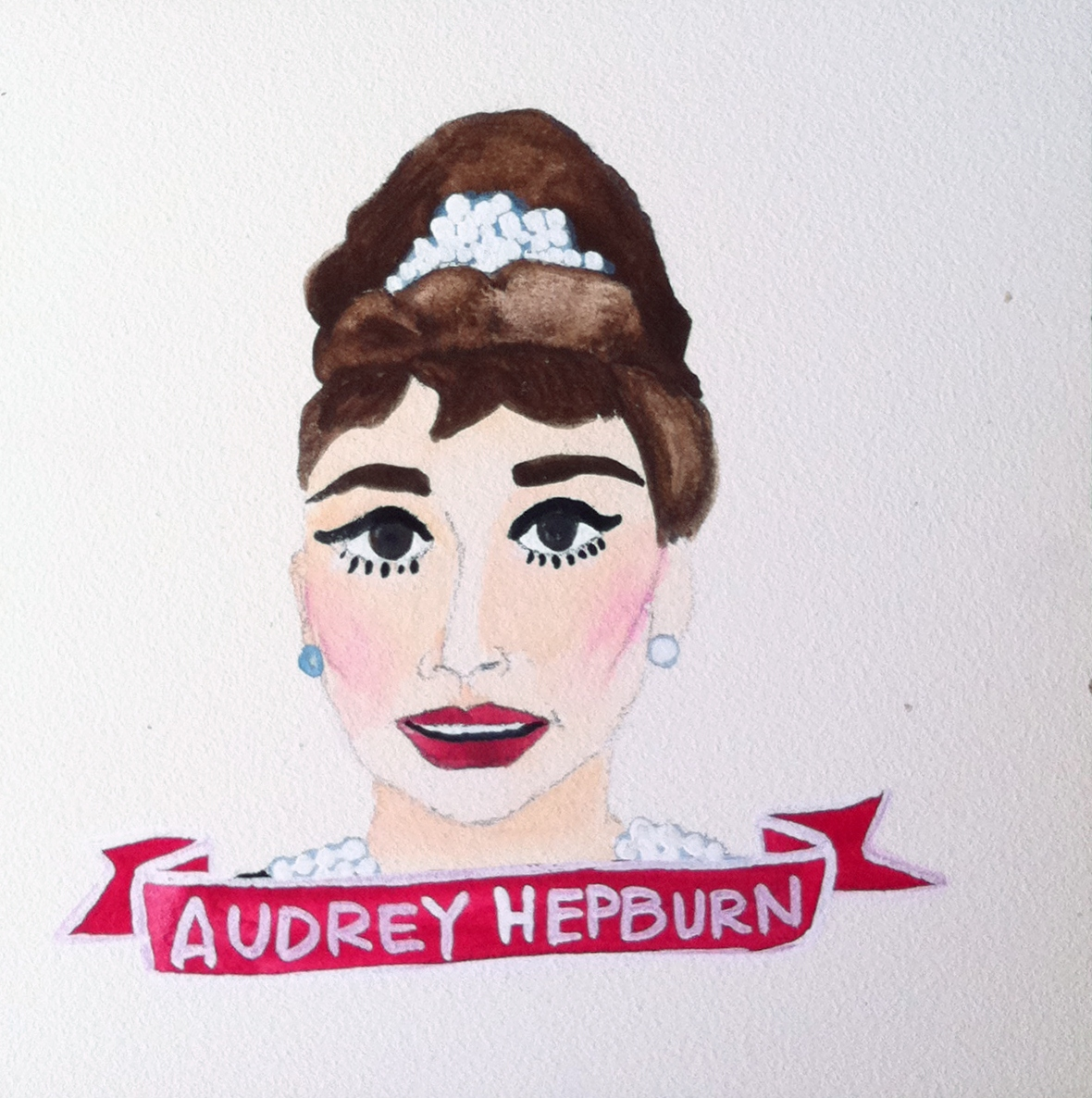 Talent Loves Company at Barbara Archer Gallery: 365 portraits by Lydia Walls - Audrey Hepburn