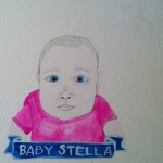 Talent Loves Company at Barbara Archer Gallery: 365 portraits by Lydia Walls - Baby Stella