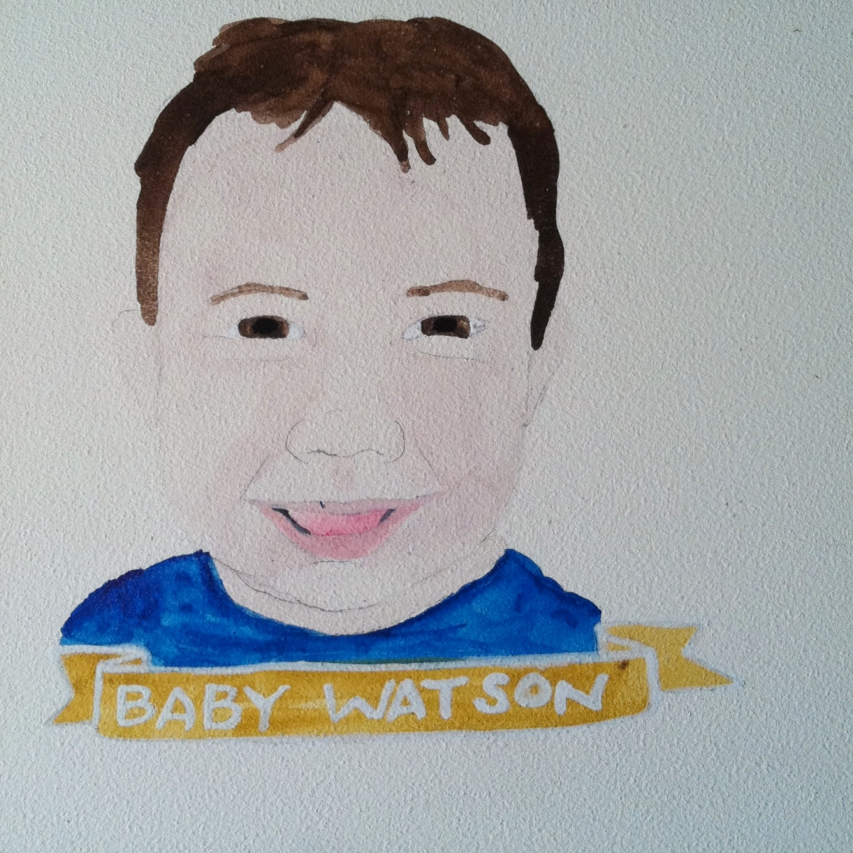 Talent Loves Company at Barbara Archer Gallery: 365 portraits by Lydia Walls - Baby Watson