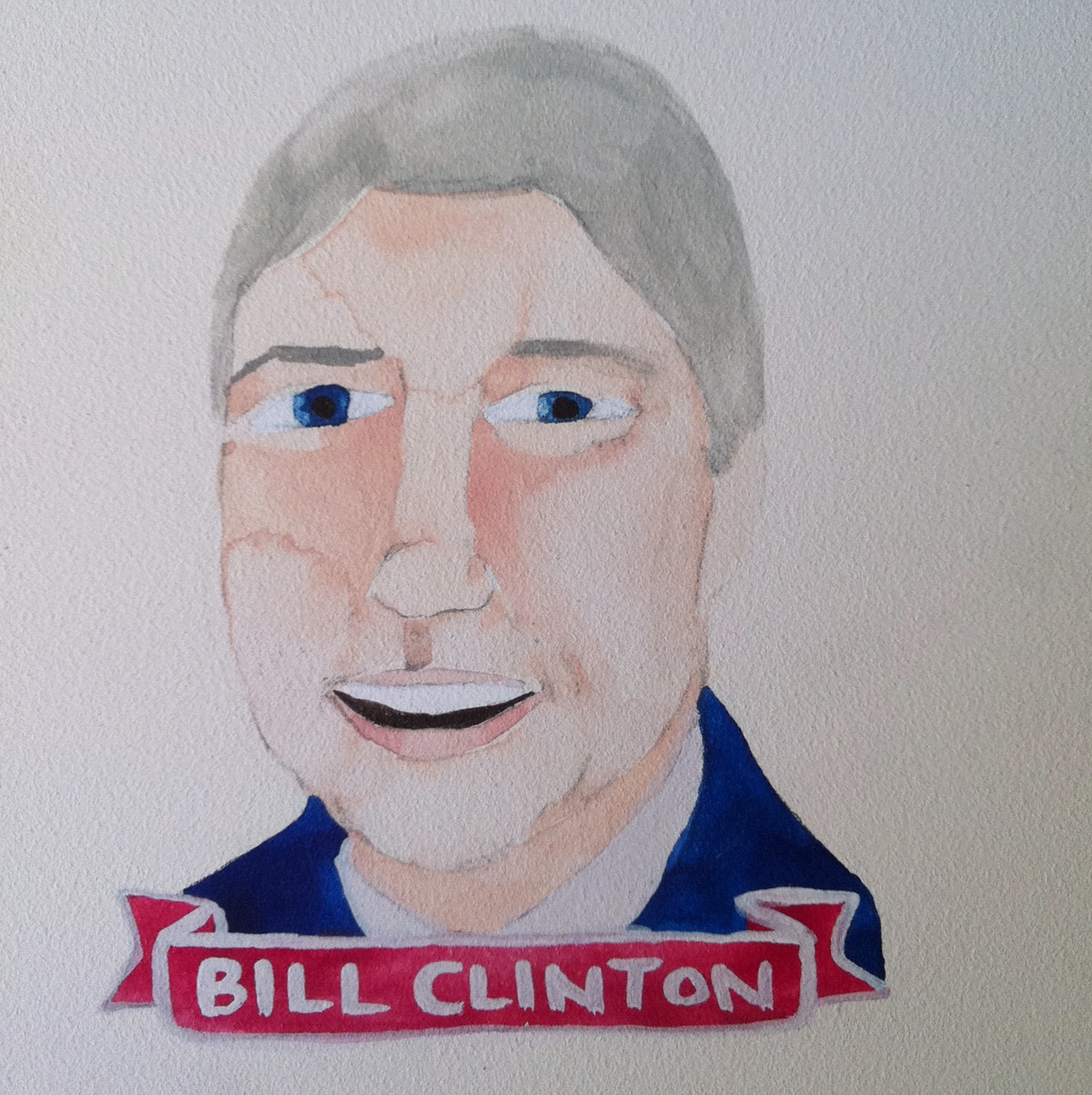 Talent Loves Company at Barbara Archer Gallery: 365 portraits by Lydia Walls - Bill Clinton