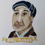 Talent Loves Company at Barbara Archer Gallery: 365 portraits by Lydia Walls - Bill Cosby