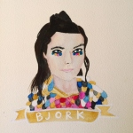 Talent Loves Company at Barbara Archer Gallery: 365 portraits by Lydia Walls - Bjork