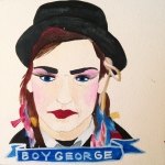 Talent Loves Company at Barbara Archer Gallery: 365 portraits by Lydia Walls - Boy George