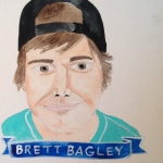 Talent Loves Company at Barbara Archer Gallery: 365 portraits by Lydia Walls - Brett Bagley