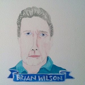 Talent Loves Company at Barbara Archer Gallery: 365 portraits by Lydia Walls - Brian Wilson