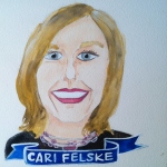 Talent Loves Company at Barbara Archer Gallery: 365 portraits by Lydia Walls - Cari Felske