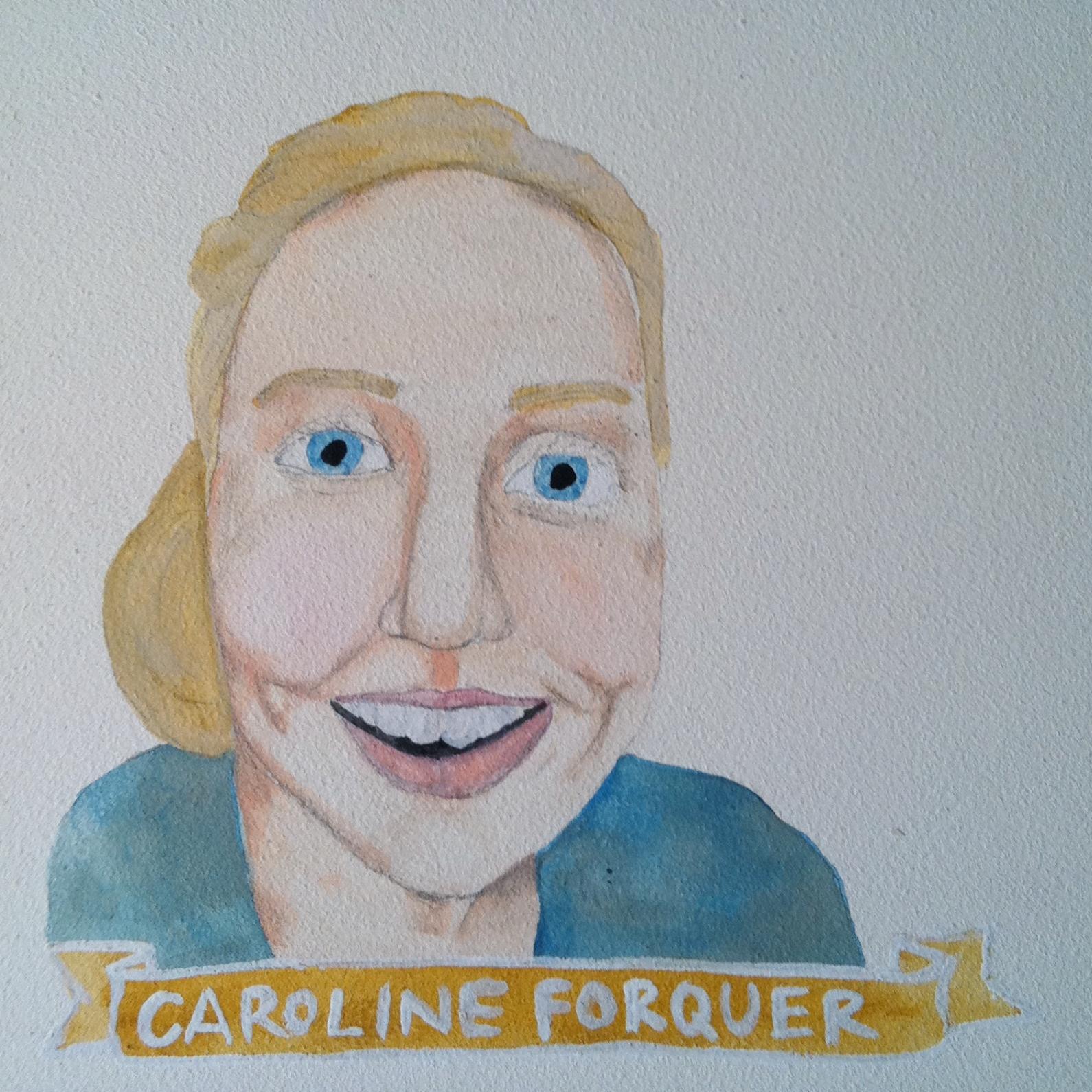 Talent Loves Company at Barbara Archer Gallery: 365 portraits by Lydia Walls - Caroline Forquer