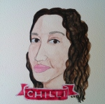 Talent Loves Company at Barbara Archer Gallery: 365 portraits by Lydia Walls - Chilli