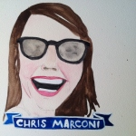 Talent Loves Company at Barbara Archer Gallery: 365 portraits by Lydia Walls - Chris Marconi