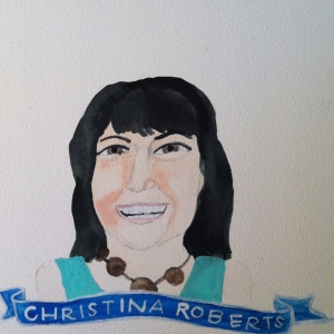 Talent Loves Company at Barbara Archer Gallery: 365 portraits by Lydia Walls - Christina Roberts