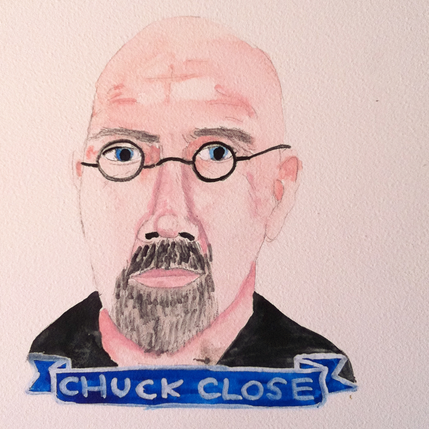 Talent Loves Company at Barbara Archer Gallery: 365 portraits by Lydia Walls - Chuck Close