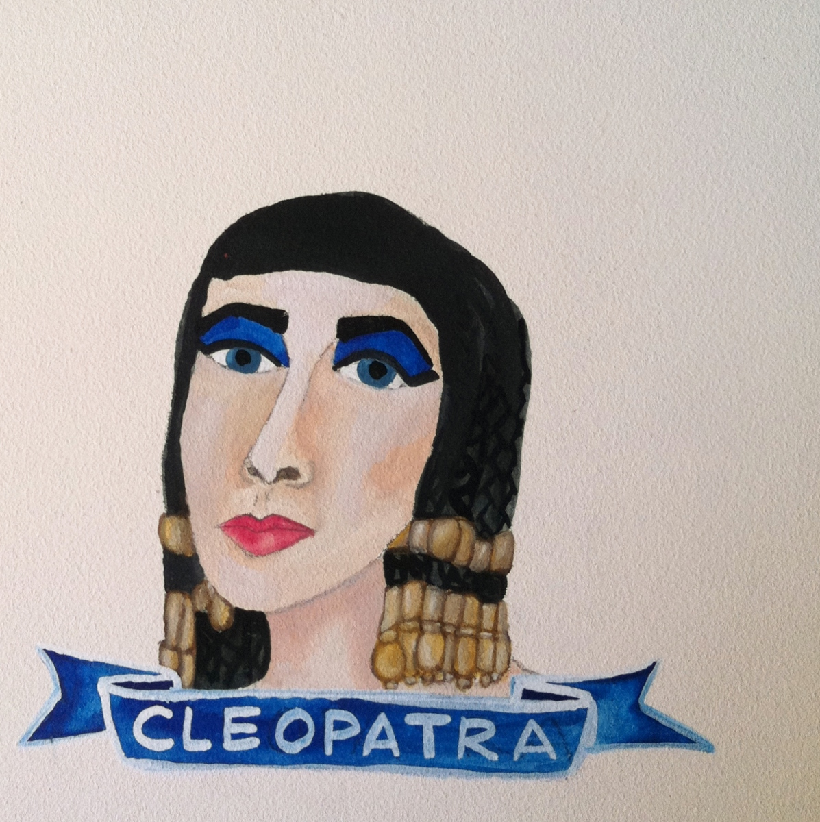 Talent Loves Company at Barbara Archer Gallery: 365 portraits by Lydia Walls - Cleopatra