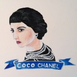 Talent Loves Company at Barbara Archer Gallery: 365 portraits by Lydia Walls - Coco Chanel