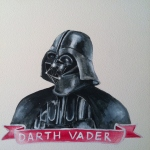 Talent Loves Company at Barbara Archer Gallery: 365 portraits by Lydia Walls - Darth Vader