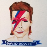 Talent Loves Company at Barbara Archer Gallery: 365 portraits by Lydia Walls - David Bowie