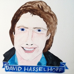 Talent Loves Company at Barbara Archer Gallery: 365 portraits by Lydia Walls - David Hasselhoff