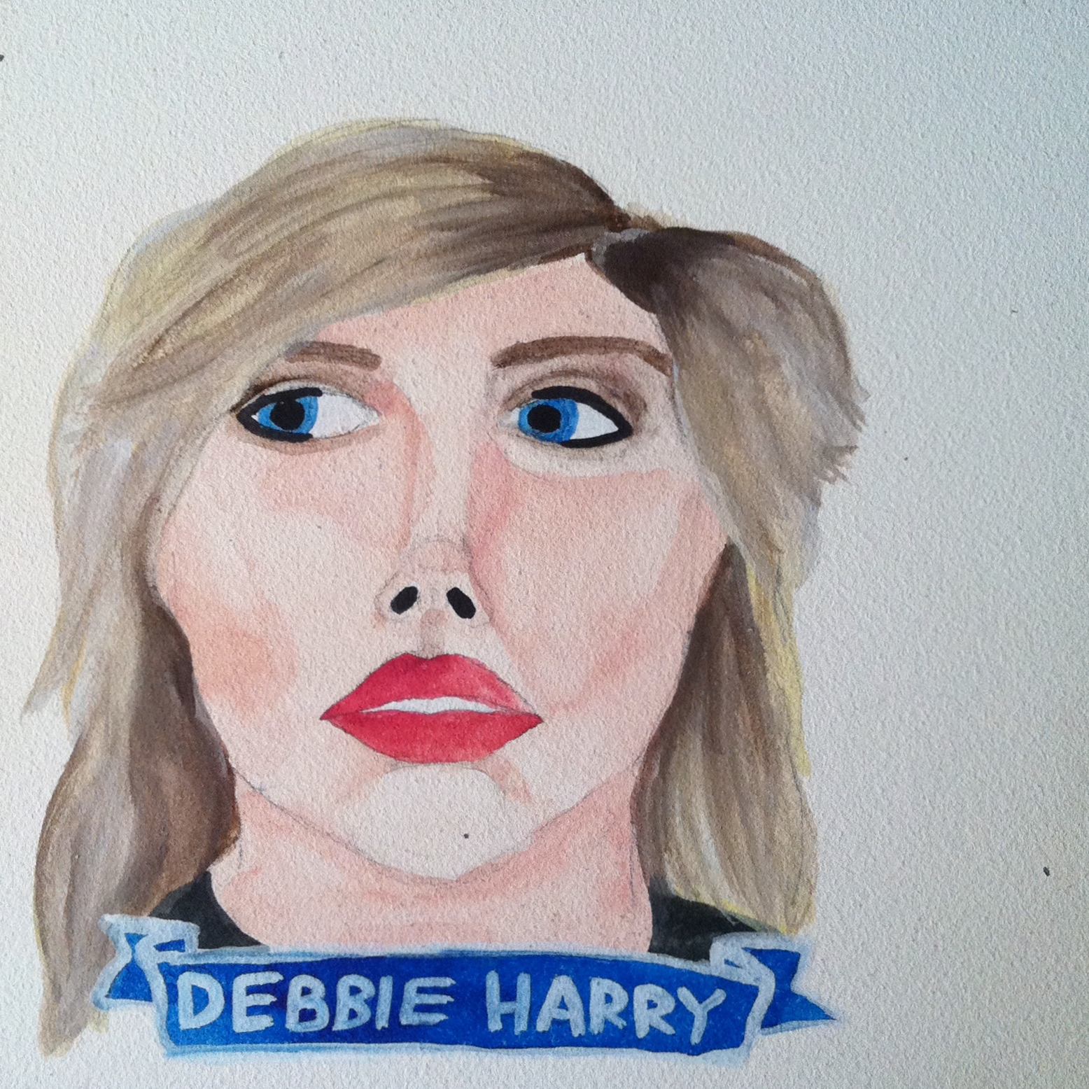 Talent Loves Company at Barbara Archer Gallery: 365 portraits by Lydia Walls - Debbie Harry
