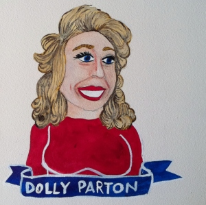 Talent Loves Company at Barbara Archer Gallery: 365 portraits by Lydia Walls - Dolly Parton