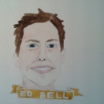 Talent Loves Company at Barbara Archer Gallery: 365 portraits by Lydia Walls - Ed Bell