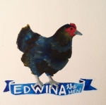 Talent Loves Company at Barbara Archer Gallery: 365 portraits by Lydia Walls - Edwina the Hen