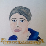 Talent Loves Company at Barbara Archer Gallery: 365 portraits by Lydia Walls - Eleanor Roosevelt