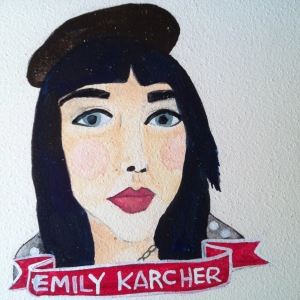 Talent Loves Company at Barbara Archer Gallery: 365 portraits by Lydia Walls - Emily Karcher