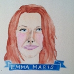 Talent Loves Company at Barbara Archer Gallery: 365 portraits by Lydia Walls - Emma Maris