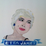Talent Loves Company at Barbara Archer Gallery: 365 portraits by Lydia Walls - Etta James