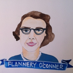Talent Loves Company at Barbara Archer Gallery: 365 portraits by Lydia Walls - Flannery OConner