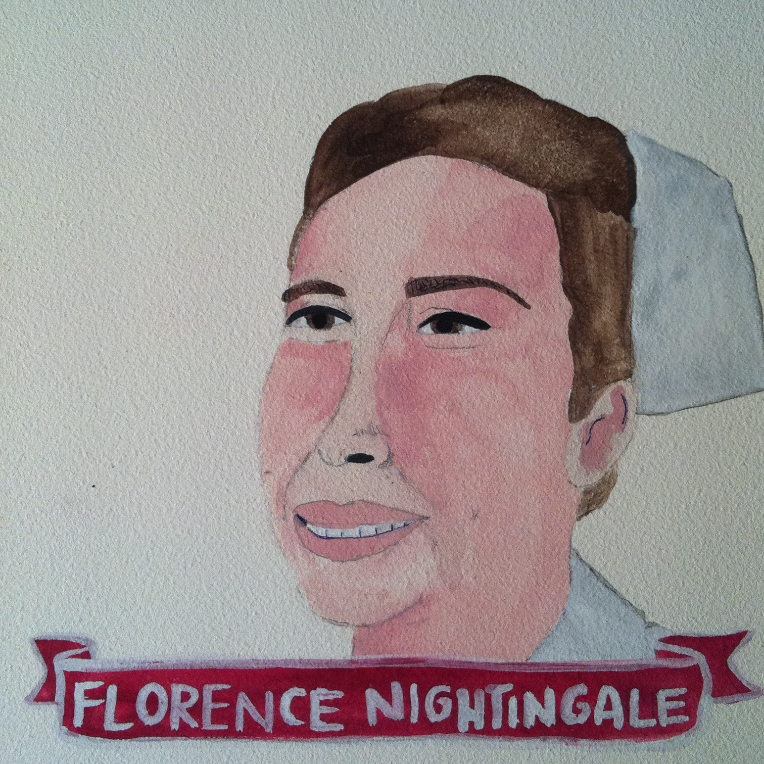 Talent Loves Company at Barbara Archer Gallery: 365 portraits by Lydia Walls - Florence Nightingale