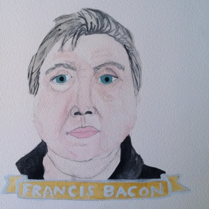 Talent Loves Company at Barbara Archer Gallery: 365 portraits by Lydia Walls - Francis Bacon