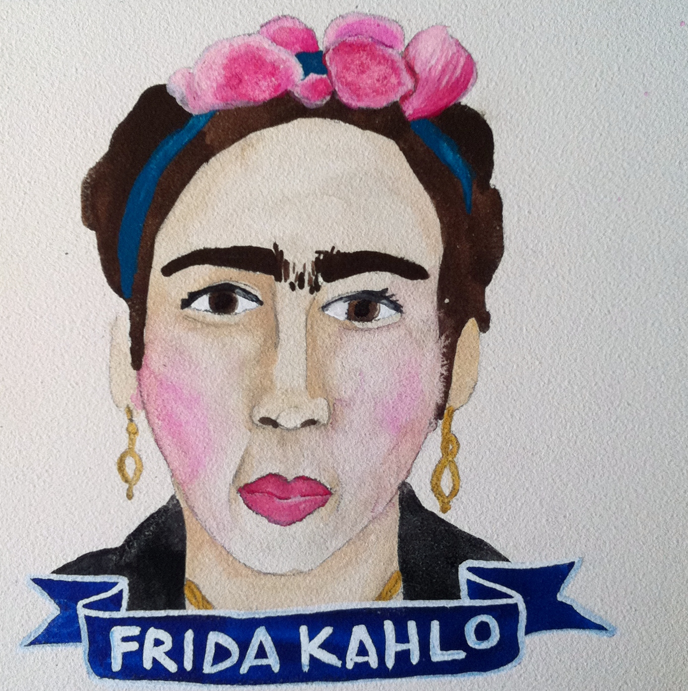 Talent Loves Company at Barbara Archer Gallery: 365 portraits by Lydia Walls - Frida Kahlo