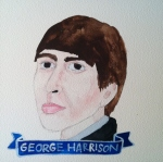 Talent Loves Company at Barbara Archer Gallery: 365 portraits by Lydia Walls - George Harrison
