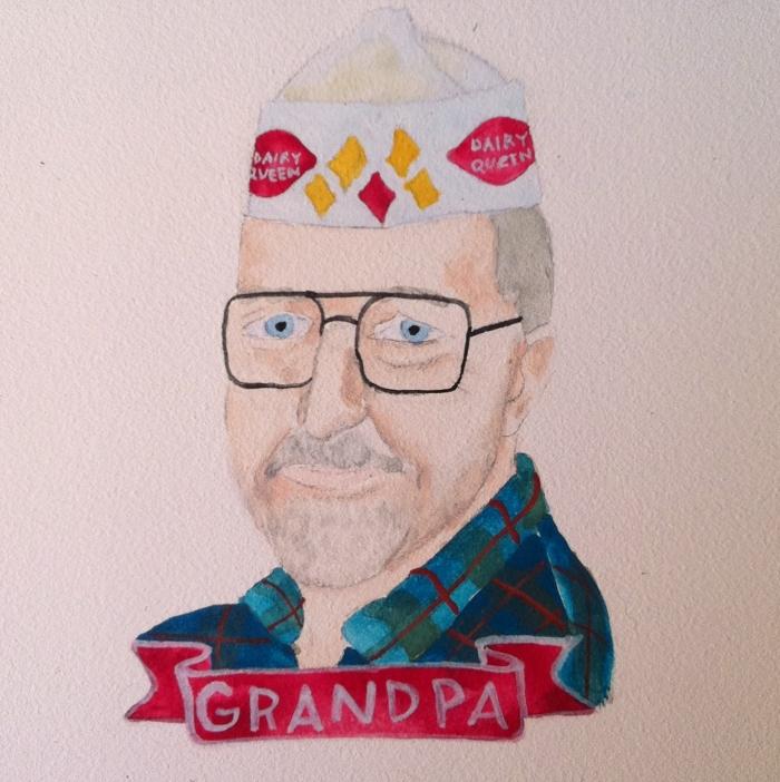 custom portrait of grandpa by lydia walls