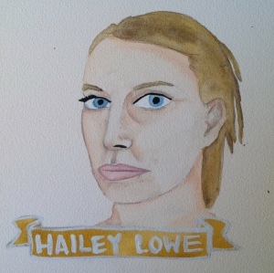Talent Loves Company at Barbara Archer Gallery: 365 portraits by Lydia Walls - Hailey Lowe