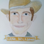 Talent Loves Company at Barbara Archer Gallery: 365 portraits by Lydia Walls - Hank Williams