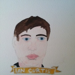 Talent Loves Company at Barbara Archer Gallery: 365 portraits by Lydia Walls - Ian Curtis
