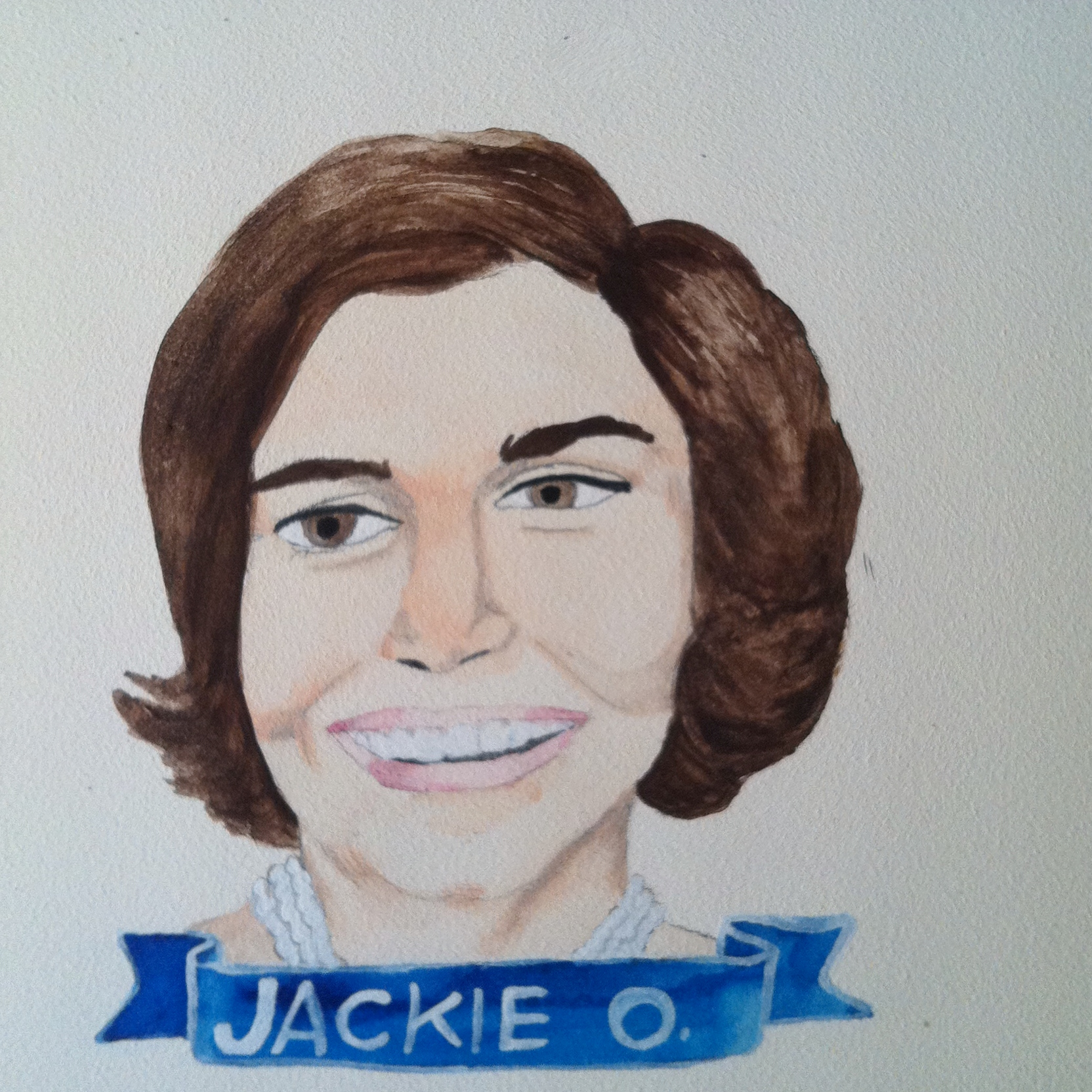 Talent Loves Company at Barbara Archer Gallery: 365 portraits by Lydia Walls - Jackie O