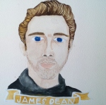 Talent Loves Company at Barbara Archer Gallery: 365 portraits by Lydia Walls - James Dean